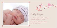 Spring Branch Girl Birth Announcement..love it!