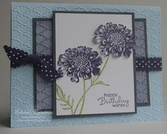 Stampin' Up! Field Flowers Birthday Card