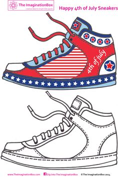 Get as creative as you can with this 4th of July Sneaker design challenge.  Great for budding fashion designers of all ages!