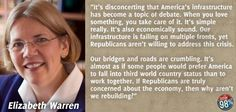 Elizabeth Warren - a very caring person & right for the job.