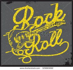 rock and roll t-shirt graphic