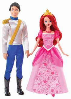 The Disney Princess Ariel and Eric Day Out Dolls are fun for imaginative fairytale play. Ariel enjoys coming up to dry land and spending time with Prince Eric. Disney Barbie Dolls, Ariel Doll, Barbie Doll Set, Disney Princess Dolls, Barbie And Ken, Disney Princesses, Princess Toys, Princesa Ariel Disney, Fashion Dolls