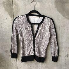 Karen Millen sneak print cardigan Like new. Size 1 Karen Millen Sweaters Cardigans