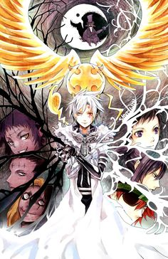 *Gasps in sudden realization* my left hand for the anima and my right for the people! Allen Walker, The Millennium Earl, Tykki, Road, Jasdevi, Lenalee Lee, Yu Kanda and Lavi - D.Gray-Man