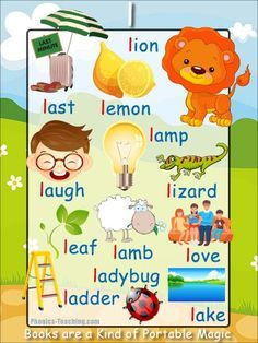 l sound - FREE PRINTABLE phonics poster for auditory discrimination, sound studies, vocabulary and classroom reference.