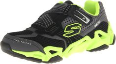 Skechers Kids 95751L Fierce Flex Gravitron Sneaker,Black/Lime,10.5 M US Little Kid