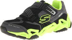 Skechers Kids 95751L Fierce Flex Gravitron Sneaker,Black/Lime,10.5 M US Little Kid