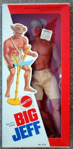 *RARE*  Mattel 1973 Big Jim's Buddy BIG JEFF Figure - Factory Sealed - MIB #MATTEL Machete
