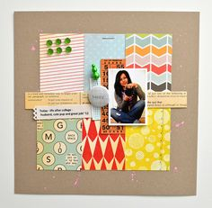 Today 12 by CloudsShadler, via Flickr-- Good use of leftover scraps from a KIT