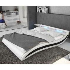 Delife Upholstered Bed Adonia 140x200 Cm White Black With Delife Polsterbett Adonia 140 200 Cm Weiss Schwarz M In 2020 Bett Modern Bett 140x200 Weiss Designer Bett