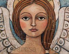 Decoración de pared | Arte de pared | Angel | Consuelo (sin bordes) | impresión 8 x 10 | Teresa Kogut
