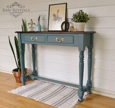 Fusion Mineral Paint, Homestead Blue,Raw Revivals,