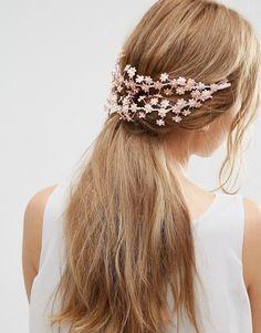 Image 1 ofASOS Wedding Mini Flower Back Hair Garland