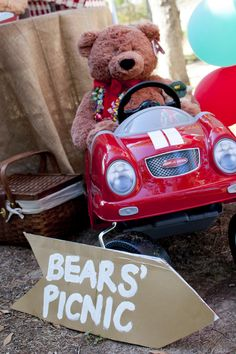 The Teddy Bears' Picnic party styling