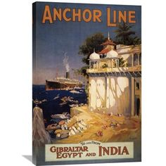 Global Gallery 'Gibraltar and India I' by Eaglecrown Vintage Advertisement on Wrapped Canvas Size: