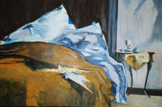 Bernie, Bed, Copy, Oil End Of Year Party, Art Party, Oil, Painting, Painting Art, Paintings, Painted Canvas, Drawings, Butter