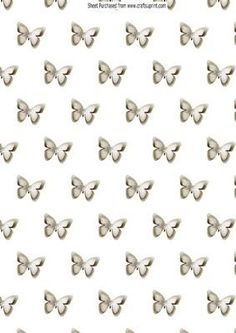 White paper script butterflies with pearls backing paper on Craftsuprint - Add To Basket!