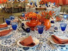 Atwood Ranch, Sonoma Cobalt & Orange Wedding #LaTavola