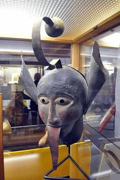 """Air and Parchment: Shame Masks  wow-medieval shame mask for gossiping folks, note the bell at the top that would ring- signifying a """"wagging"""" tongue"""