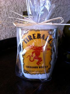 Fireball+Whiskey+Recycled+Wine/+Liquor+Bottle+Candle+by+vintagewix,+$25.00 Wine And Liquor, Liquor Bottles, Fireball Whiskey, Bottle Candles, 22nd Birthday, So Creative, Crafts To Do, Fun Projects, Whisky
