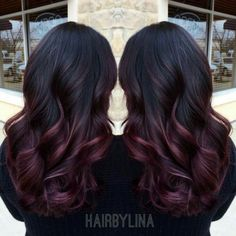 Beautiful Ombre (Black to Dark Red)