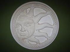 LARGE ROUND SUN PLAQUE $23.00 - HOME DECOR & GARDEN DECOR