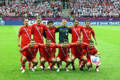 Reprezentacja Rosji przed meczem Polska Rosja na UEFA EURO 2012