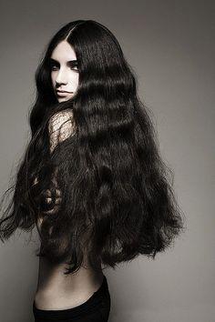 Dark hair and dark eyes. 100 Human Hair, Human Hair Wigs, Long Curly Hair, Curly Hair Styles, Pretty Hairstyles, Wig Hairstyles, Cheap Real Hair Wigs, One Length Hair, Natural Red Hair