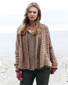 Chunky knit short and long and button style cardigan designs (3)