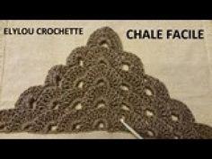 Tuto crochet : Châle en relief au crochet facile / crochet tutorial: embossed shawl - YouTube