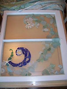 sea glass project. i think i could try this - way easier than stained glass... right?