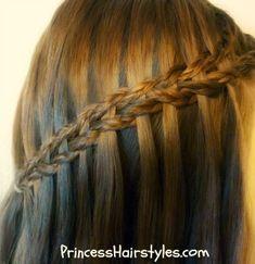 Braided scissor waterfall braid