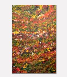 Dancing leaves Acrylic on canvas