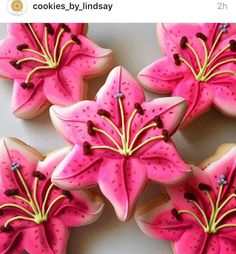 Stargazer Lilly cookies