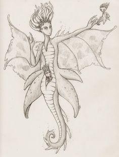 illustration mermaid fantasy