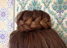 French braided bun tutorial - HairAndNailsInspiration