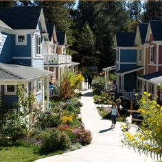 """Nevada City Cohousing - Nevada City, California. Our community is built on an historical site, the world's first hydraulic mining site of the 1860's. We've taken an 11-acre piece of land that was formally a """"brown field"""" and transformed it into our thriving, beautiful,""""eco-friendly"""" home."""