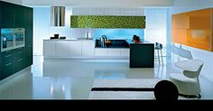 I love this kitchen, modern and the colours are nice