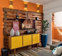 Construindo Minha Casa Clean: Decoração com Paletes e Caixotes!!!