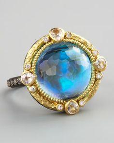 Armenta Midnight Round Ring