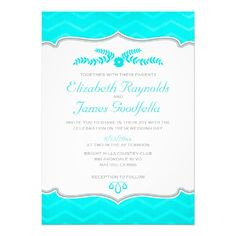 See MoreTeal Zigzag Wedding Invitations InviteWe have the best promotion for you and if you are interested in the related item or need more information reviews from the x customer who are own of them before please follow the link to see fully reviews