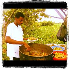 Cooking oildown on Bathway Beach. With this 90 degree weather I can hit Bathway right now. Felix We need to go Bathway today. Grenada Caribbean, Carribean Food, Southern Caribbean, Underwater Sculpture, Social Awareness, West Indian, My Heritage, White Sand Beach, Beautiful Islands