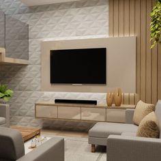 Hall Room Design, Bedroom Tv Unit Design, Tv Unit Furniture Design, Tv Unit Interior Design, Living Room Partition Design, Small House Interior Design, Living Room Tv Unit Designs, Home Design Living Room, Living Room Decor Cozy
