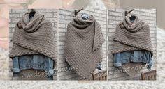 Mdsignathome: Shawl with polka dot border . Crochet Diy, Poncho Au Crochet, Pull Crochet, Mode Crochet, Crochet Shawls And Wraps, Crochet Scarves, Crochet Clothes, Crochet Capas, Knit Patterns