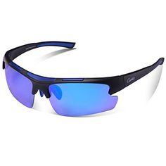 0f6b4a817c7 UK Golf Gear - KRY UV400 Sports Sunglasses for Mens Driver Golf Fishing  Unbreakable Metal Frame