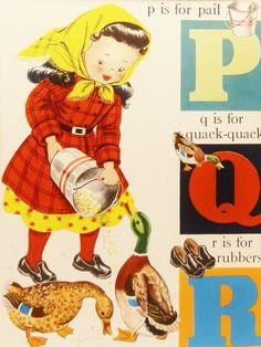 1940's Vintage Children's Print