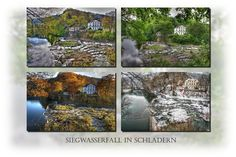 Waterfall on the River Sieg over the year