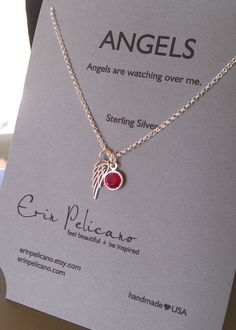 Angel Wing // Remembrance Jewelry // Inspirational Jewelry // Simple Delicate