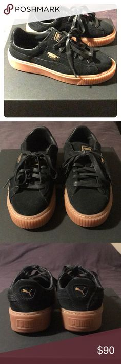 Fenty Puma Creepers Black suede Creepers with gum soles. Perfect condition, only worn once (clean soles). Comes with dust bag. Puma Shoes Sneakers