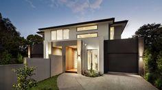 Dual Occupancy Home Builders Melbourne Custom Home Designs, Custom Home Builders, Custom Homes, Townhouse Designs, Duplex House Design, Home Builders Melbourne, Rendered Houses, Double House, Townhouse Exterior
